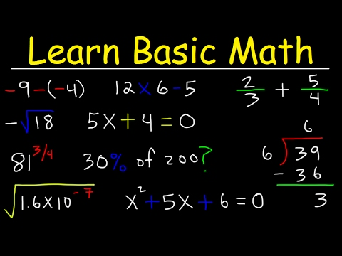 Math Videos:  How To Learn Basic Arithmetic Fast - Online Tutorial Lessons