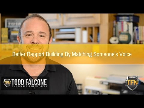 Better Rapport Building By Matching Someone's Voice
