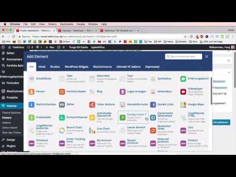 Impreza WordPress Theme 4 - Website Footer Einstellen