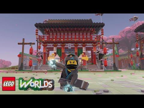 LEGO Worlds Chinese New Year Temple Gate Brick Build Showcase