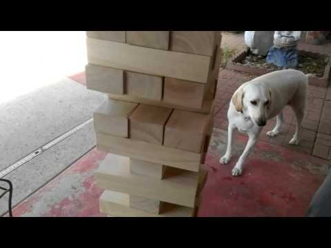 Crazy giant Jenga game