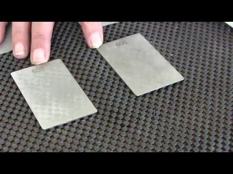 James Barry Sharpening How to choose the correct credit card diamond stone from Trend