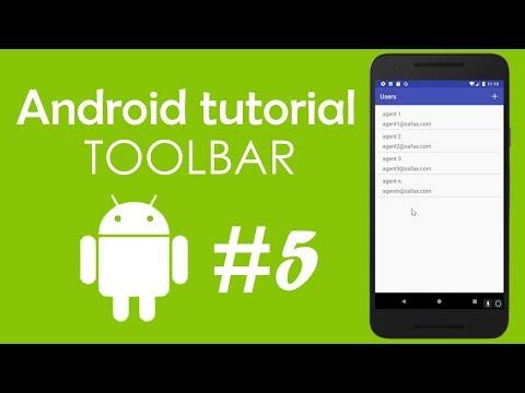 Android Tutorial #5 - Toolbar - Action-bar - Menu