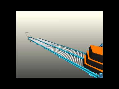 Multi Lane Gravity Conveyor Tote Stop with Removable Cross Bar