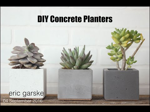 DIY Concrete Planter - Simple and Easy // Eric Garske
