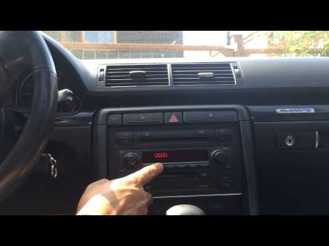 How to bring Audi Symphony Stereo out of safe mode