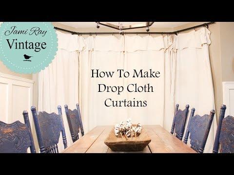 How To Make Farmhouse Curtains | Drop Cloth Curtains