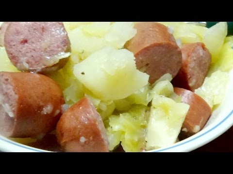 Recipe for Potatoes, Sausage, & Cabbage in Power Pressure Cooker XL