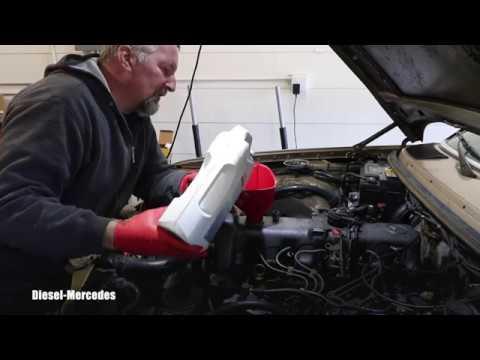 Mercedes OM617 Engine Oil and Filter Change