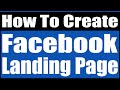 how to create facebook landing page