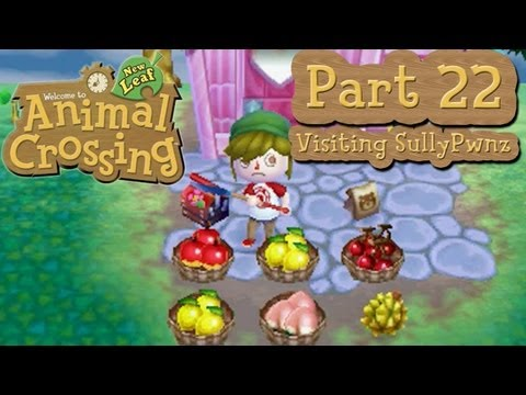 Animal Crossing: New Leaf - Part 22: Visiting and Planting Trees in SullyPwnz's Town: GudKush!