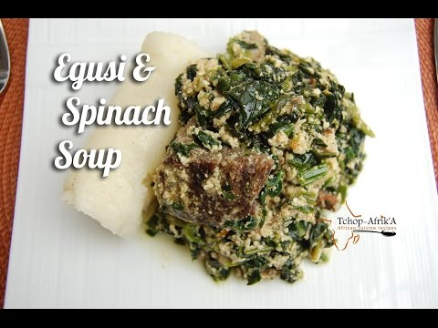Egusi and spinach soup