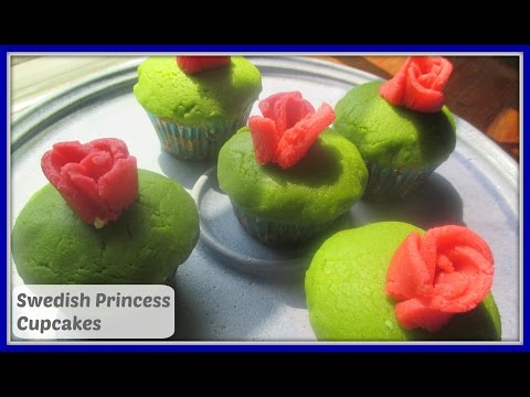How To Make Most Delicious Swedish Princess Cupcakes - Svenska Prinsesstårta Cupcakes