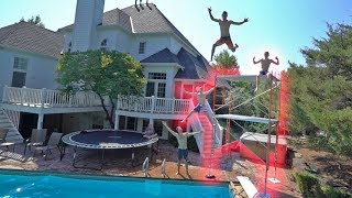 WE MADE THIS IN MY BACKYARD!! *SO CRAZY*