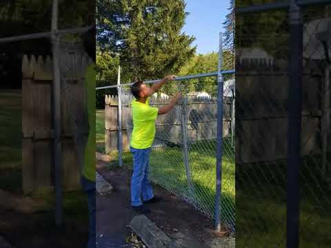 How to Stretch Chain Link Fence - Installing Chain Link Fence