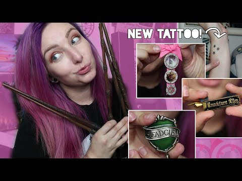 Wizarding World of Harry Potter HAUL + NEW TATTOO | WANDS & PINS