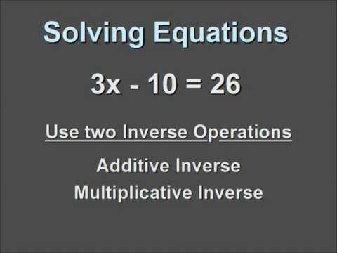 Solving a Single Variable Equation that contains a Coefficient and a Negative Constant.