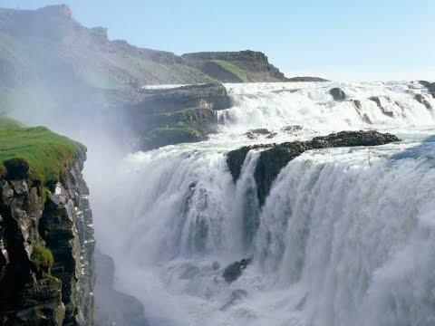 Gullfoss waterfall.  Iceland