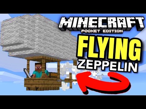 How to FLY in Minecraft PE! (MCPE Zeppelin addon!)