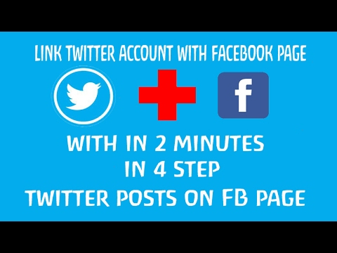 How to link TWITTER to FACEBOOK || 2 minutes || 4 step