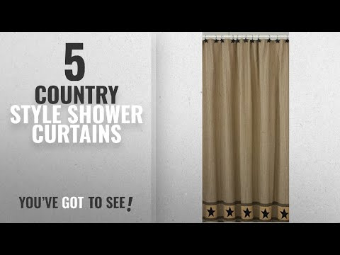 Top 10 Country Style Shower Curtains [2018]: Park Designs Primitive Star Shower Curtain, 72 by 72