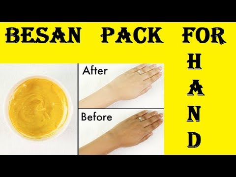 Home Remedy Besan Pack for Your Beautiful Hands (In Hindi) -  Daily Health Routine