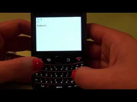 BlackBerry First Steps: Sending an email