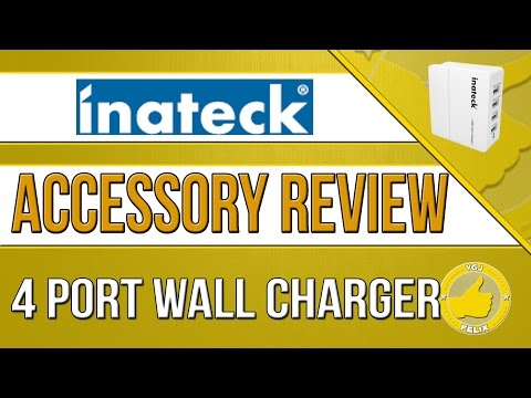 Inateck 4 USB Port Wall Charger Charger  (Android, Nexus 7, Samsung Galaxy S5, iPhone, iPad)