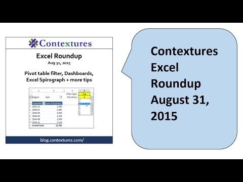 Excel Roundup 20150831