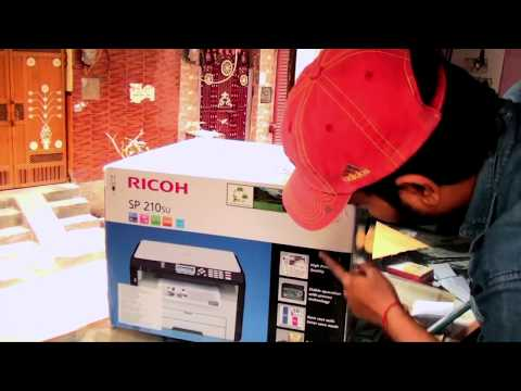 RICOH SP210SU PRINTER UNBOXING || DIDNT FIND ANY MAC DRIVER TILL NOW
