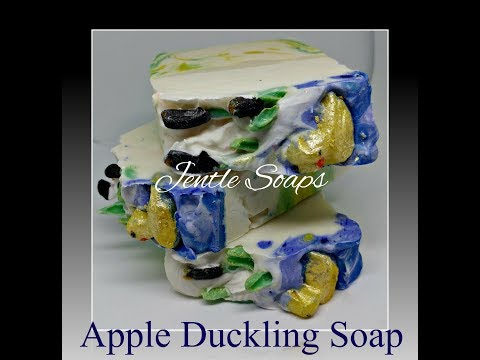 Apple Duckling Soap  | Jentle Soaps  | Soap Dough Creations  |  CP  |  DIY Soap Making