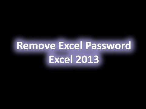 Remove Forgotten Microsoft Excel Password No Software Needed Video Tutorial