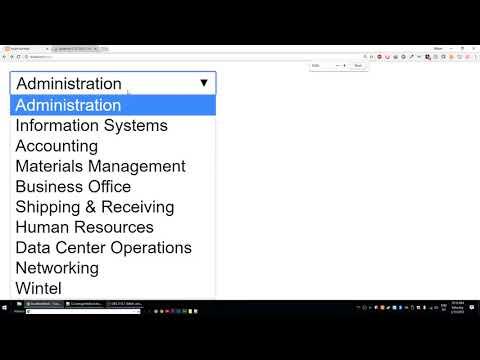 Populating Drop Down menus from Database