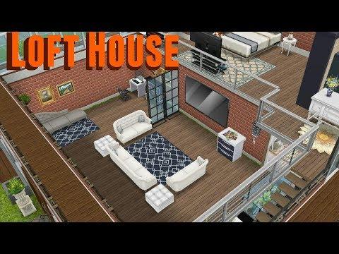 Simsfreeplay - Loft House Tour ( My Design )