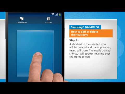 How to Add or Delete Shortcut Keys on Samsung® GALAXY S4