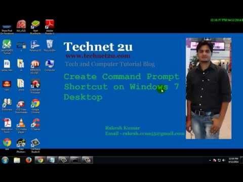Create Command Prompt Shortcut on Windows 7 Desktop