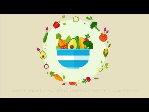 How to Create a Flat Style Vector Vegetable Poster in illustrator