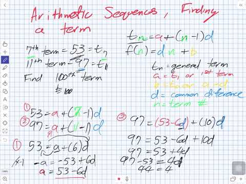 Arithmetic Sequence Finding a Term (Grade 11 University)