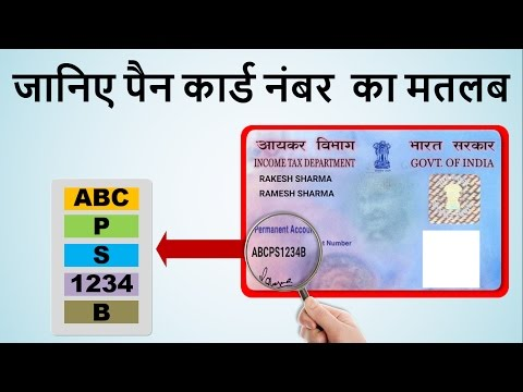PAN Card Number Meaning | Know Each Character of Your PAN Number