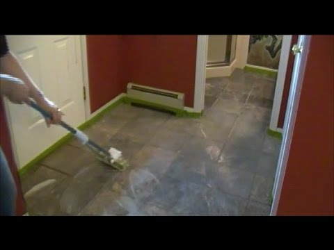 Tile Wax and Grout Sealant Removal