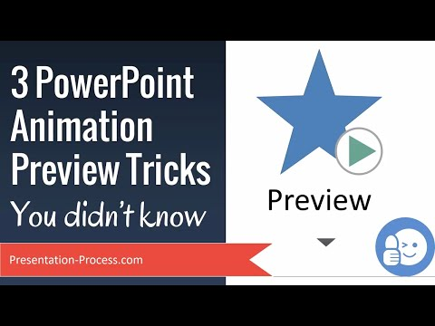 3 PowerPoint Animation Preview Tricks (You Didn't Know)