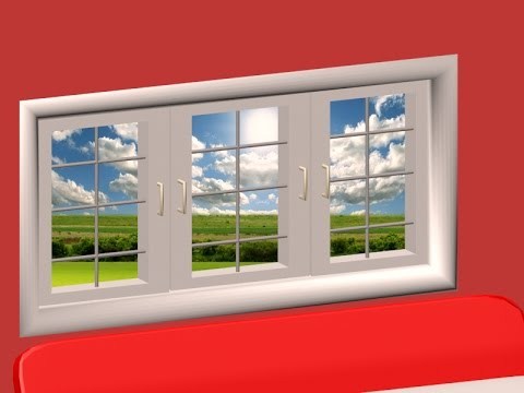 how to make window in 3d max , create window