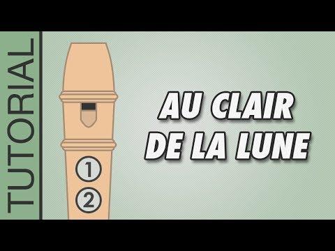Au Clair de la Lune - Recorder Notes Tutorial