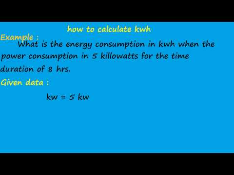 how to calculate kwh - electrical formulas