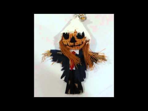 Scary Halloween string dolls Voodoo dolls keychain www.pokeitvoodoo.com