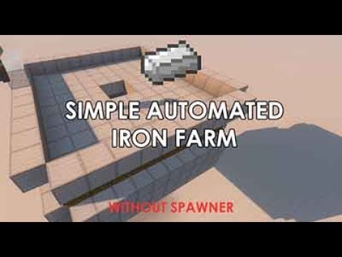 Minecraft - How to make a Simple Iron Farm (No Spawner)