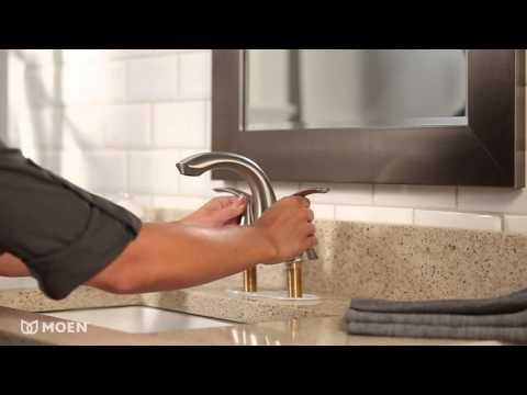 Darcy™ 2-Handle Centerset Bathroom Sink Faucet   Moen Features Spotlight