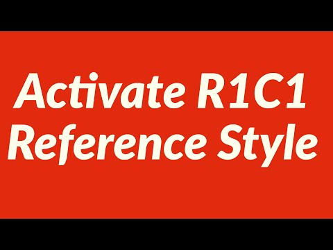 Activate R1C1 Reference Style Automatically