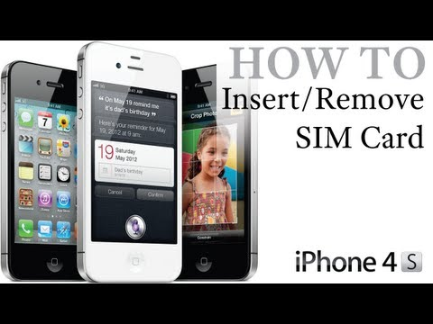 iPhone 4S How To: Insert / Remove a SIM Card