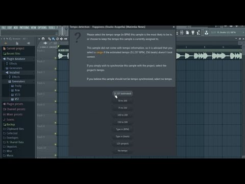 How to sync an acapella on FL Studio